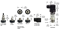 615-616 Series Transducers Dimensions
