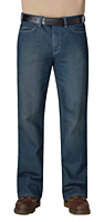 Straight Fit Sanded Denim Jean