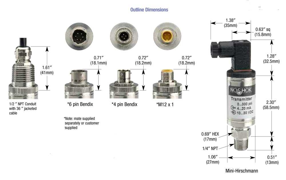 NOSHOK HIGH PERFORMANCE CURRENT OUTPUT PRESSURE TRANSMITTER 100-30VAC-1-1-2-1